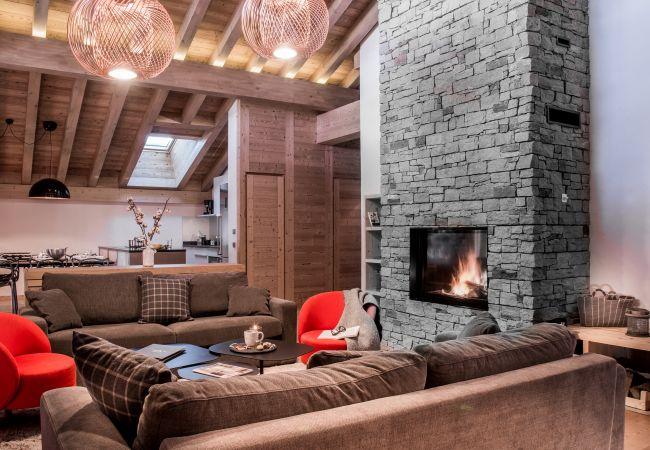 Appartement luxe résidence Les Cimes à La Clusaz, au pied de la piste du Bossonnet et à une enjambée du centre du village