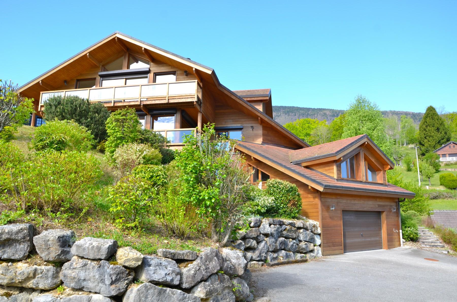 Maisons a saint jorioz st jorioz maison bois avec for Piscine bois maison